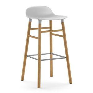 Form-Barstool-75cm-Oak-White