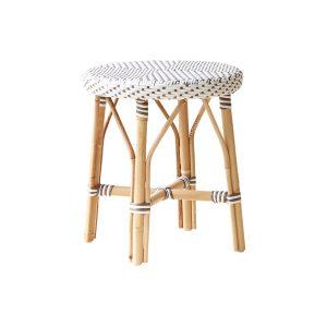 Simone stool-white-cappuchino-dot