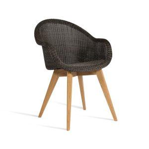 Edgard-dining-chair-teak-base-black