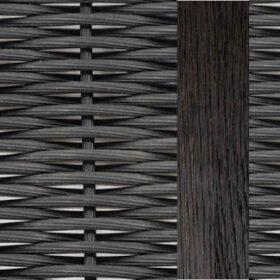 Brushed teak black/Black