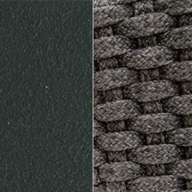 Aluminium Matt Dark Grey + Round Rope Lava Grey