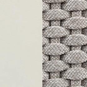 Aluminium Matt Warm White + Round Rope Light Grey
